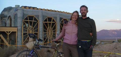 Mykal and Nico at Earthship Biotecture