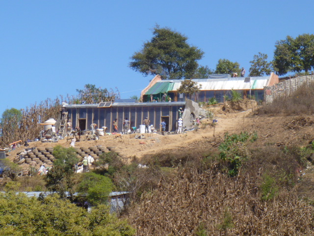 Earthship built in Comalapa