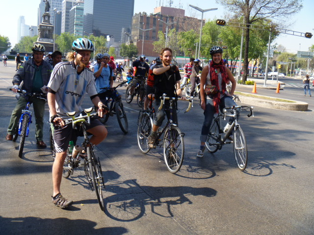 Car Free Sunday in Mexico City with lance, Mykal and Sethaly
