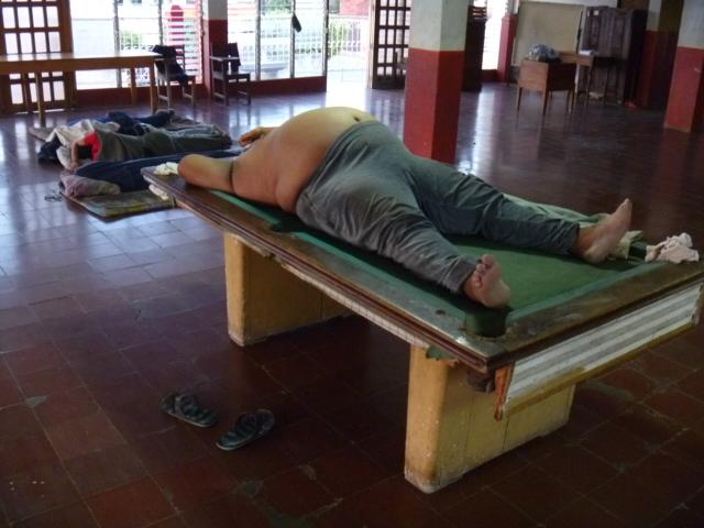 Bombero sleeping