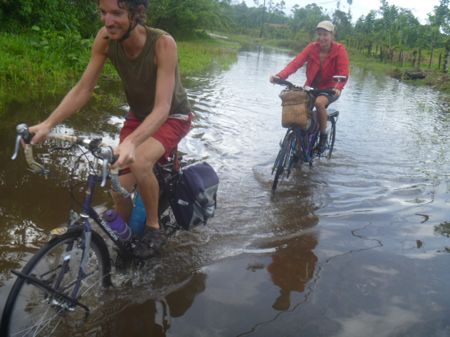 22 Wet bicycle ride Caribbean