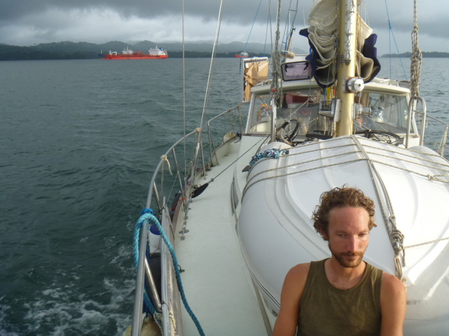 Motoring along the Panama canal