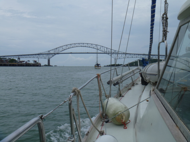 Entering the Panama City zone at the 'Bridge of the Americas'